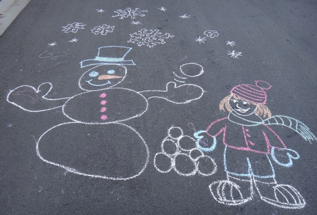Winter Chalk Art