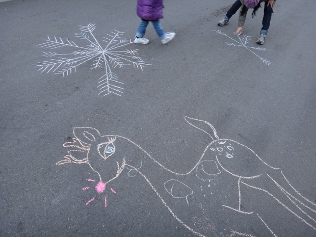 Chalk Art Winter Wonder Land