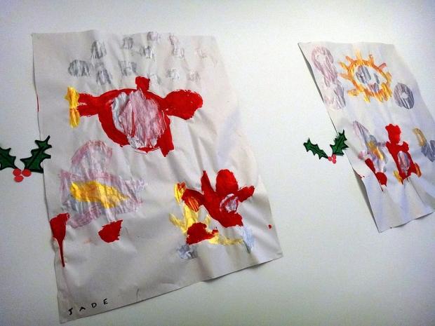 Christmas Kid Paintings