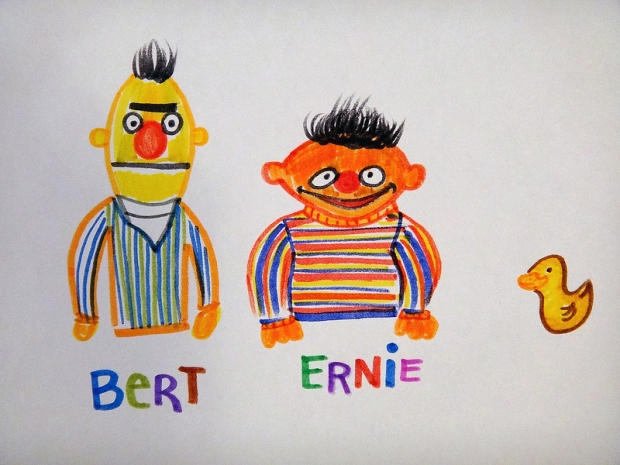 Bert and Ernie / Drawing