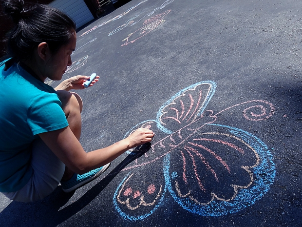 Butterfly Chalk Drawing