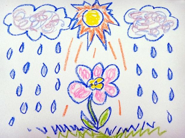 Rainy Flower Doodle