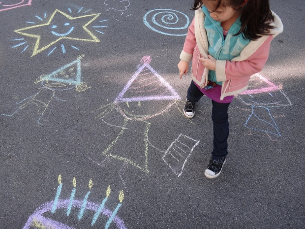Birthday Chalk Art